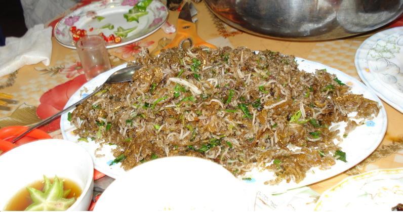 Bún xào ngán- Món độc đáo Hạ Long Quảng Ninh