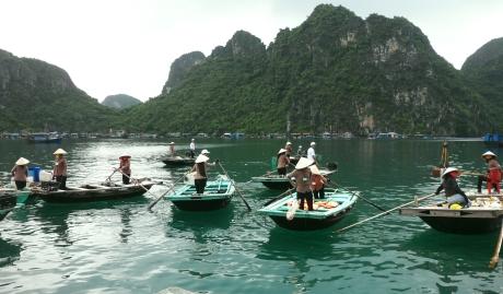 Dân chài trên vịnh Hạ Long