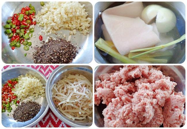 Nguyên liệu làm nem chua nem chạo Quảng Yên - Hạ Long