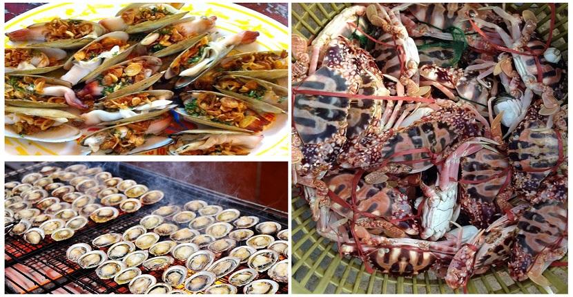 Hải sản tươi ngon của vùng biển Hạ Long
