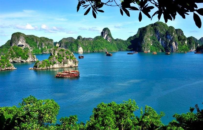 Vẻ đẹp non nước vịnh Hạ Long tựa như bức tranh