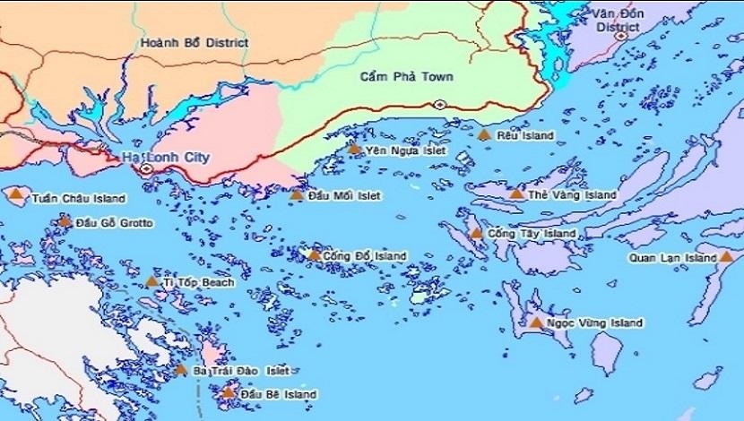 Hệ thống quần đảo trên vịnh Hạ Long