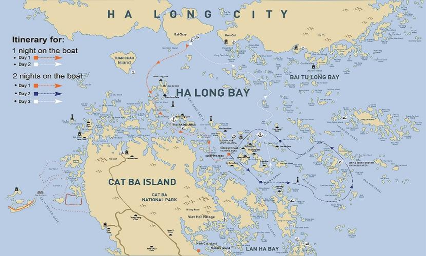 Bản đồ vịnh Hạ Long